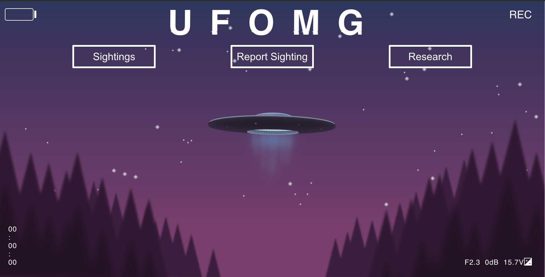 UFO sighting reporting application