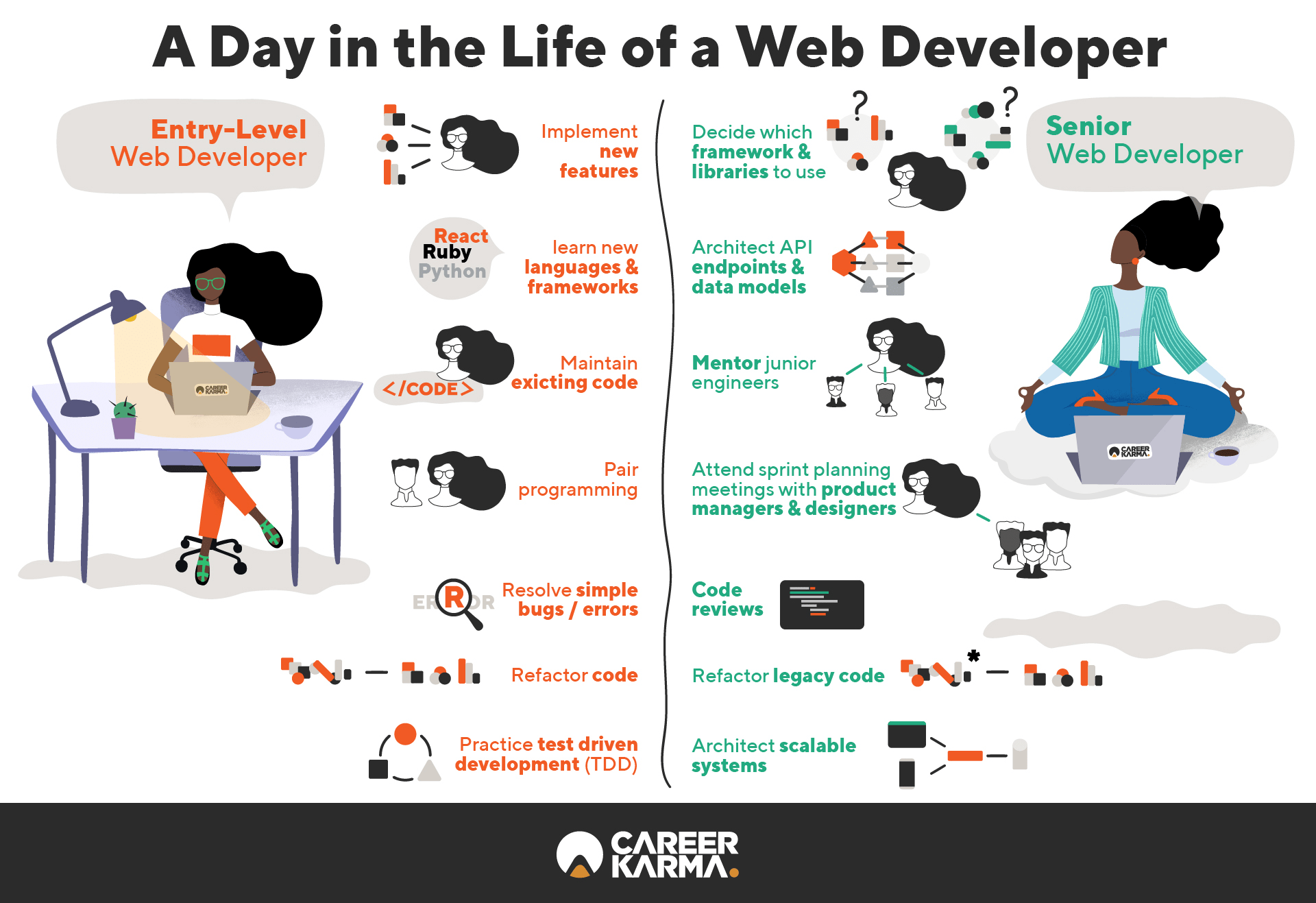 Web developer infographic